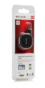 Product image of Belkin Cable 3.5MMST M/M Mini Stereo Retractable 1m