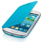 Product image of [Ex-Demo] Samsung Flip Cover (Light Blue) for Galaxy S III Mini Smartphone (Opened/ Item As New)