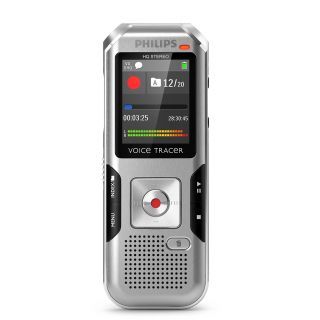 Product image of Philips VoiceTracer DVT4000 (4GB) Digital Voice Recorder (Silver/Chrome) with AutoAdjust+