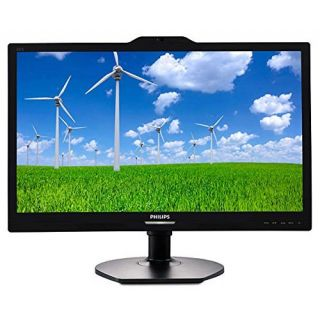 Product image of Philips S-Line 221S6QYKMB (22.0 inch) LCD Monitor with Webcam 1000:1 250cd/m2 1920x1080 14ms DisplayPort/DVI-D/VGA (Black)