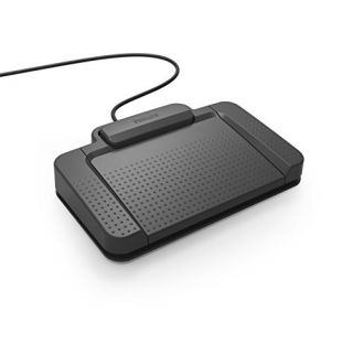 Product image of Philips LFH2330 Digital Dictation Anti-Slip Foot Control Pedal with USB Interface (Black)