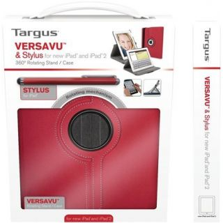 Product image of Bundle:Targus Versavu Case and Stylus (Red) for iPad