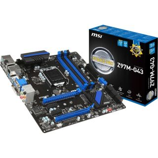 Product image of MSI Z97M-G43 Motherboard LGA 1150 Intel Z97 Express M-ATX RAID Gigibit LAN