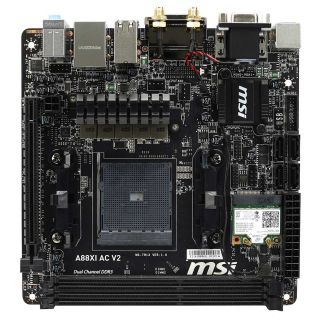 Product image of MSI A88XI AC V2 AMD A88X (Socket FM2+) DDR3 Mini ITX Motherboard