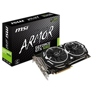 Product image of MSI Nvidia GeForce GTX 1060 ARMOR 6G OC (6GB) Graphics Card GDDR5 PCI-E (3 x DisplayPort) HDMI DVI
