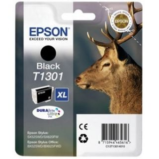 Product image of Epson T1301 Black Ink Cartridge (Retail Packed, Untagged) for Stylus Office BX525WD/BX625FWD/Stylus SX525WD/SX620FW