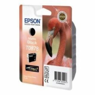 Product image of Epson T0878 Ink Cartridge (Matte Black) for Epson Stylus R1900 Photo Printer (RF)