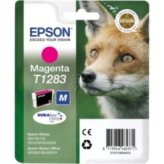 Product image of Epson T1283 Magenta Ink Cartridge for BX305F/S22/SX125/SX420W/SX425W
