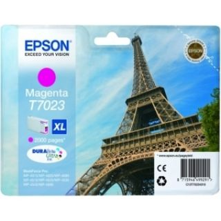 Product image of Epson T7023 (Yield 2,000 Pages) Magenta High Capacity Ink Cartridge for Epson Workforce Pro 4000 Series Printers