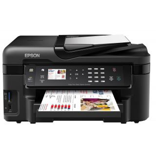 Product image of Epson WorkForce WF-3520DWF (A4) Colour Inkjet All-in-One Wireless Printer (Print/Copy/Scan/Fax) 6.3cm Colour LCD 38ppm (Mono) 38ppm (Colour) 12000 (MDC)