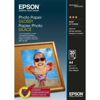 Product image of Epson (A4) 210 x 297 mm Glossy Photo Paper 200g/m2 (20 Sheets) for Expression Photo XP-950 Printer