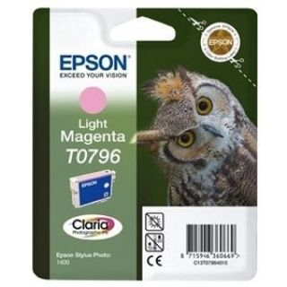 Product image of Epson T0796 Ink Cartridge (Light Magenta) for Stylus Photo 1400 Printer