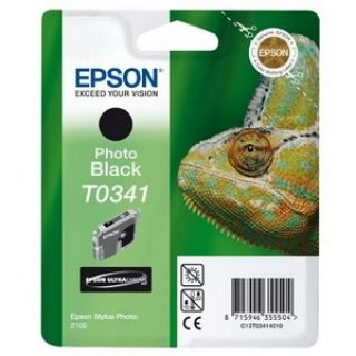 Product image of Epson T0341 UltraChrome Black Ink Cartridge for Stylus Photo 2100 Printer