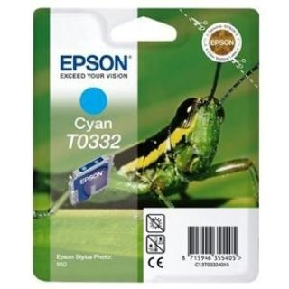 Product image of Epson T0332 Cyan Ink Cartridge (Blister Pack) for Stylus Photo 950 Printer