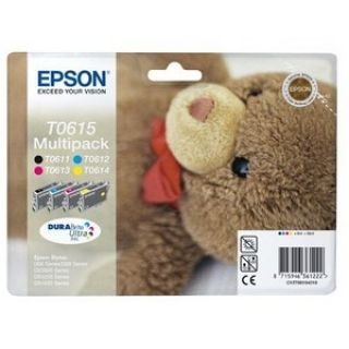 Product image of Epson T0615 Multi 4 Pack Ink Cartridges (T061140, T061240, T061340, T061440)