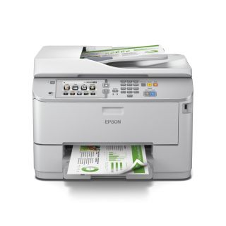 Product image of Epson WorkForce Pro WF-5690DWF (A4) Colour Inkjet Wireless All-in-One Printer (Print/Copy/Scan/Fax) 10.9cm Touchscreen 34ppm (Mono) 30ppm (Colour) 35,000 (MDC)