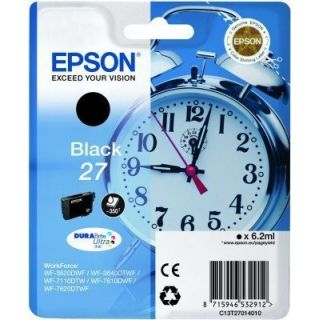 Product image of Epson Alarm Clock 27 DURABrite Ultra Ink Cartridge (Black) Blister for WorkForce WF-3620DWF/WF-7610DWF/WF-3640DTWF/WF-7620DTWF/WF-7110DTW Printers
