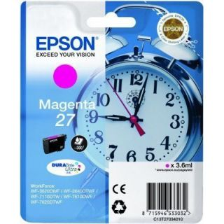 Product image of Epson Alarm Clock 27 DURABrite Ultra Ink Cartridge (Magenta) Blister for WorkForce WF-3620DWF/WF-7610DWF/WF-3640DTWF/WF-7620DTWF/WF-7110DTW Printers