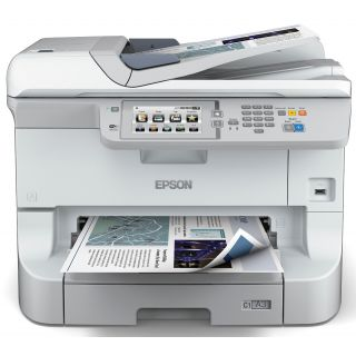 Product image of Epson WorkForce WF-8510DWF (A3+) Colour Laser Multifunction Wireless Printer (Print/Copy/Scan/Fax) 12.7cm Touchscreen Colour LCD 34ppm (Mono) 34ppm (Colour) 65,000 (MDC)