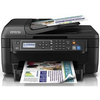 Product image of Epson WorkForce WF-2650DWF (A4) Colour Inkjet Wireless Multifunction Printer (Print/Copy/Scan/Fax) 5.6cm Mono LCD 33ppm (Mono) 20ppm (Colour)