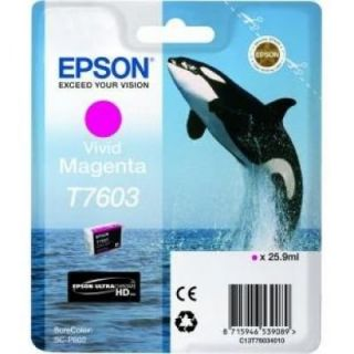 Product image of Epson T7603 (25.9ml) Vivid Magenta Ink Cartridge for SureColor SC-P600 Printers