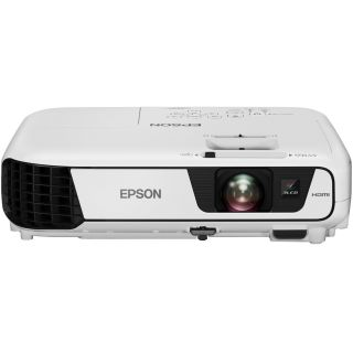 Product image of Epson EB-X31, Projectors, Mobile/Nogaming, Portable, XGA, 1024 x 768, 4:3, 3,000 lumen - 2,100 lumen (economy), 10,000 : 1, USB 2.0 Type A, USB 2.0 Type B, Wireless LAN IEEE 802.11b/g/n (optional), HDMI in, Composite in, Component in, S-Video in, RGB in, VGA in, Cinch audio in, 2.4 kg, 2 W, Carrying bag, Computer cable, Main unit, Power cable, Remote control incl. batteries, USB cable, User's Manual Set, Warranty Documents, 36 months On-Site Warranty, Lamp: 12 months or 1,000 h