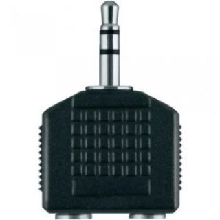 Product image of [Ex-Demo] Belkin 2x 3.5mm Jack Male/ Female Audio Splitter in Black (Not in original packaging)
