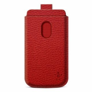 Product image of Belkin Leather Folio Pull Tab Case (Red)