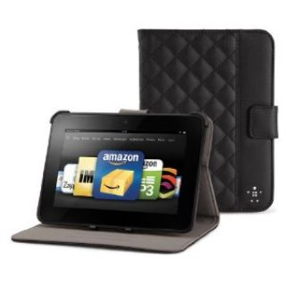 Product image of Belkin Quilted Tab Folio with Stand for Kindle Fire/ Kindle Fire HD (Black)