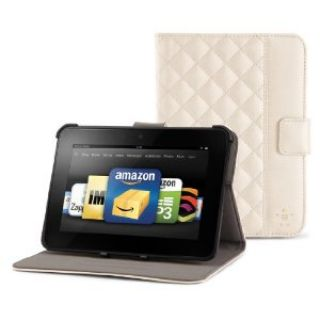 Product image of Belkin Quilted Tab Folio with Stand for Kindle Fire/ Kindle Fire HD (Cream)