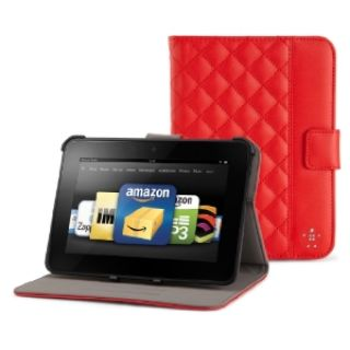 Product image of Belkin Quilted Tab Folio with Stand for Kindle Fire/ Kindle Fire HD (Red)