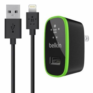 Product image of Belkin AC Wall Charger With Lightning Cable for iPhone (Black)