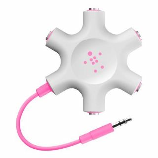Product image of Belkin Rockstar Universal Multi-Headphone Splitter, Pink