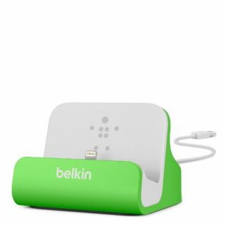 Product image of Belkin Charge and Sync Desktop Dock (Green) for iPhone 5