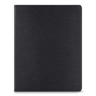 Product image of Belkin Classic Strap Cover (Black) with Elastic Corners for iPad Air