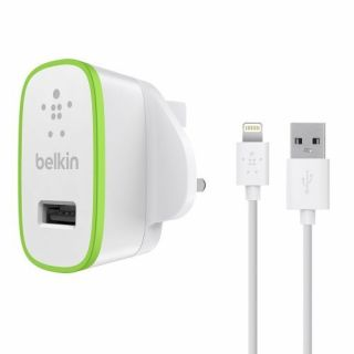 Product image of Belkin Ultra Fast USB Mains Charger with 1.2m Lightning Charge and Sync Cable (White)