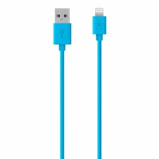 Product image of Belkin MIXT (3m) Lightning to USB Charge and Sync Cable (Blue) for iPad, iPhone or iPod