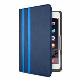 Product image of Belkin (8 inch) Twin Stripe Cover Folio (Deep Sea/Marina Blue) for iPad mini 4, iPad mini 3, iPad mini 2 and iPad mini