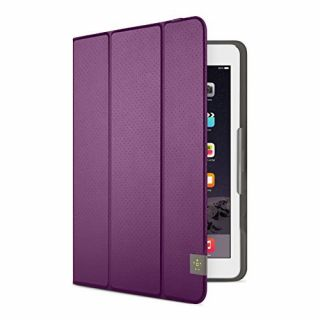 Product image of Belkin Tri-Fold Folio Cover (Purple) for iPad Air and iPad Air 2
