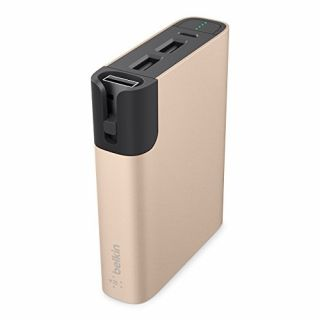 Product image of BELKIN F8M993btGLD Belkin Premium Power Pack 10000 with Micro USB and lightning cables  GOLD