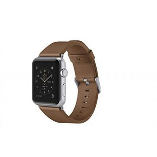 Product image of Belkin Classic Leather Band (Grey) for (38mm) Apple Watch