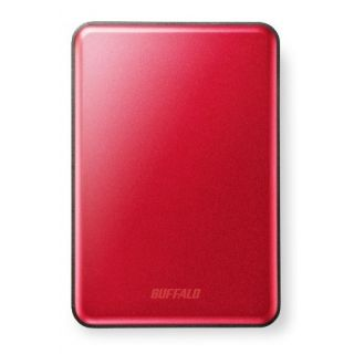 Product image of Buffalo MiniStation Slim (500GB) USB 3.0 Portable Hard Drive (Red)