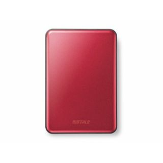 Product image of Buffalo HD-PUS1.0U3R-WR MiniStation Slim (1TB) USB 3.0 Portable Hard Drive (Red)
