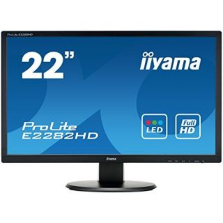 Product image of Iiyama ProLite E2282HD (21.5 inch) LED Backlit LCD Monitor 1000:1 250cd/m2 (1920x1080) 5ms VGA/DVI (Black)