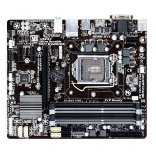 Product image of Gigabyte GA-B85M-DS3H Motherboard Core i3/i5/i7/Pentium/Celeron Socket LGA1150 B85 Express MicroATX Gigabit LAN (Integrated Graphics)