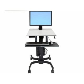 Product image of Ergotron WorkFit C-Mod Single Display Heavy Duty Sit Stand Workstation (Black)