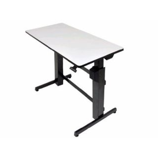 Product image of Ergotron WorkFit-D Sit-Stand Desk (Light Grey)