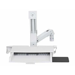 Product image of ERGOTRON STYLEVIEW SIT-STAND COMBO ARM WORKSURFACE BRIGHT WHITE