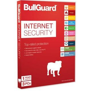 Product image of BULLGUARD INTERNET SECURITY 1YR 3 USER 100MB ATTACH SOFTBOX IN