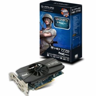 Product image of [Ex-Demo] Sapphire 11201-12-20G AMD Radeon HD 7770 Flex 1GB GDDR5 Graphics Card (HDMI DVI-I DVI-D Display Port PCI Express 3.0 AMD St (Opened/ Item As New)